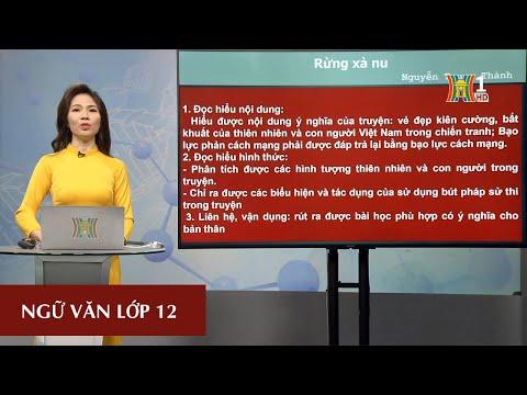 MÔN NGỮ VĂN - LỚP 12 | RỪNG XÀ NU (TIẾT 2) | 16H00 NGÀY 25.3.2020 (Truyền hình Hà Nội)
