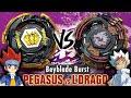 METAL FIGHT RIVALRY | Storm Pegasis .10G.Qc' VS Lightning L-Drago .10R.Z' | Beyblade Burst GT/Rise