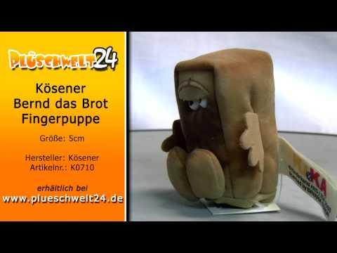 Plüschwelt24 - Kösener Bernd das Brot Fingerpuppe 5cm