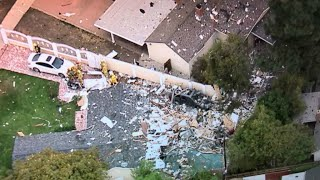 RAW: Chopper Footage Of Scene Of Canoga Park Explosion That Destroyed Home