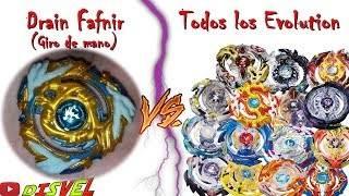 Drain Fafnir FAKE (Giro De Mano/Hand Spin) Vs Todos Los Beyblade Evolution 😝🔥😠 - Beyblade Burst Perú