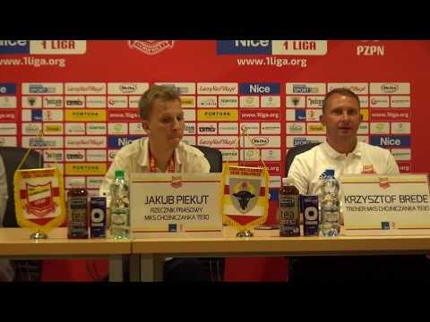 Konferencja prasowa po meczu Chojniczanka Chojnice - Stomil