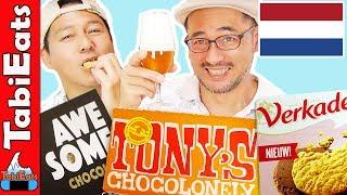 Japanese Try Dutch Snacks And Treats (TASTE TEST)