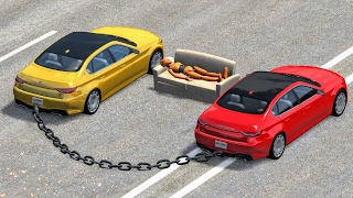 Chained Car Madness #1 - BeamNG Drive