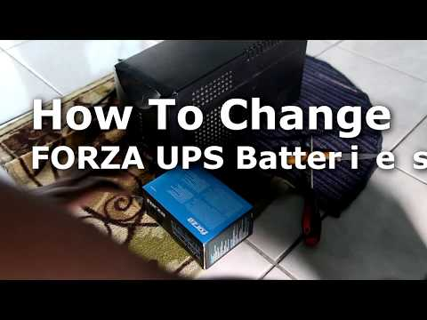 How to replace a Forza UPS battery #ups #battery #backup #powersupply