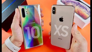 Samsung Galaxy Note10+ vs Apple iPhone XS Max Speed Test & Camera Comparison