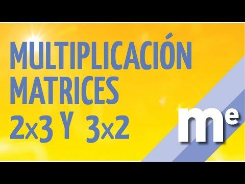 Multiplicación de matrices 2x3 y 3x2