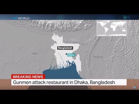 Gunmen attack restaurant in Dhaka, Bangladesh, Mazharul Islam reports