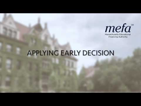 Applying Early Decision