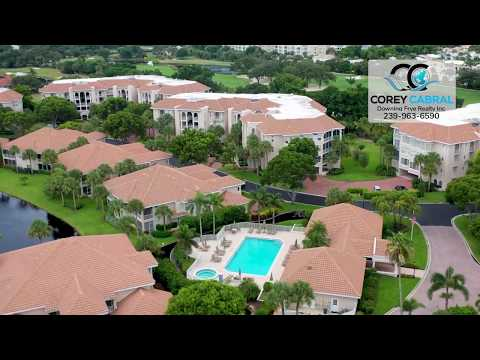 Pelican Bay Crescent Naples Florida 360 degree fly over video