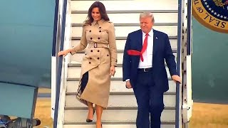 President Trump and First Lady Melania Trump Arrive in Belgium. July 10, 2018