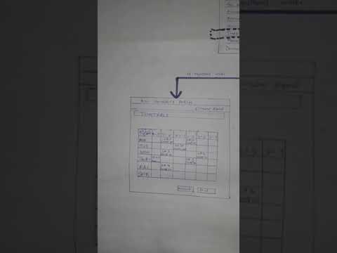 Timetable system prototype