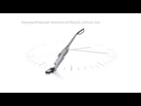 Беспроводной пылесос Bosch Athlet: длительное время работы без подзарядки.
