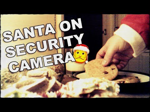 Santa Claus Caught On Hidden Security Camera