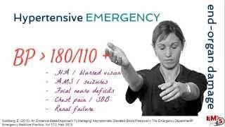 Hypertensive Emergency Treatment