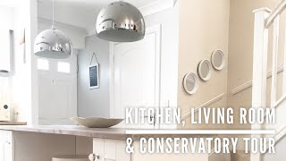 KITCHEN, LIVING ROOM & CONSERVATORY TOUR   HOME TOUR PART 3   CARLY JADE DRAKE