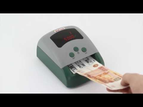 Видеообзор автоматического детектора валют DoCash 430 EUR/USD/RUB