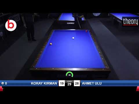 KORAY KIRMAN & AHMET ULU Bilardo Maçı - 2019 YÜKSELME LİGİ-1.TUR