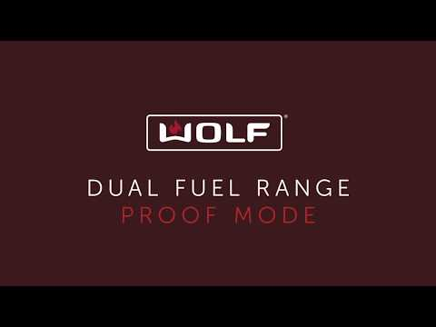 Wolf Dual Fuel Range - Proof Mode