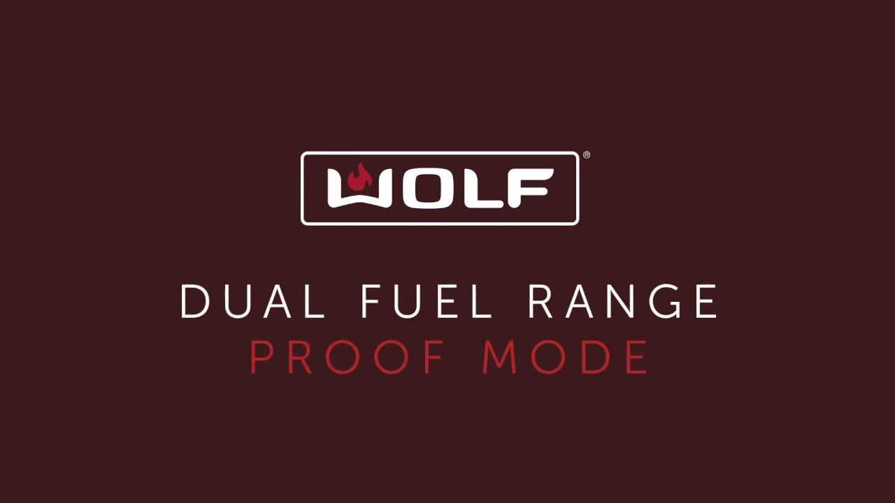 Wolf Dual Fuel Range - Proof Mode