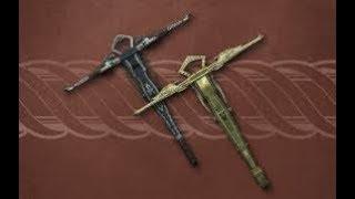 Skyrim SE мод из Creation Club на эльфийский и эбонитовый арбалеты