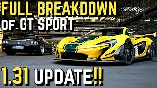 *FULL REVIEW* of GT SPORT 1.31 (McLaren P1, Ferrari F50 + MORE!!)