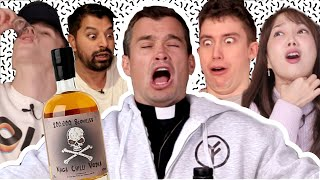 1 MILLION SUB SPECIAL: English People try Naga Chilli Vodka!!