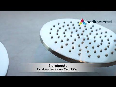 Brauer Brushed Edition stortdoucheset - hoofddouche 20cm - staafhanddouche - geborsteld nikkel PVD