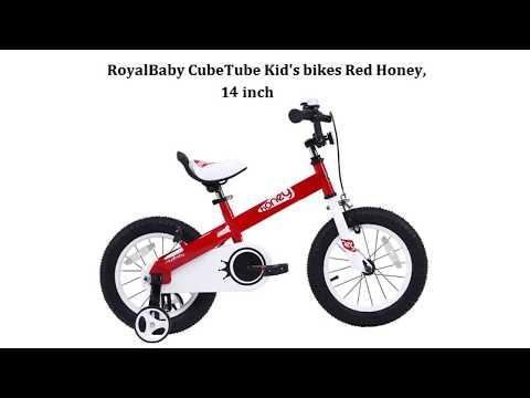 RoyalBaby CubeTube Kid's bikes Red Honey,  14 inch - Best Kids Ride on Toys