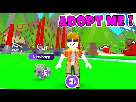 MY FIRST TIME PLAY ROBLOX ADOPT ME!! NEW UPDATE NEON PETS