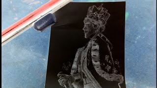 Drawing Freddie Mercury (Negative)