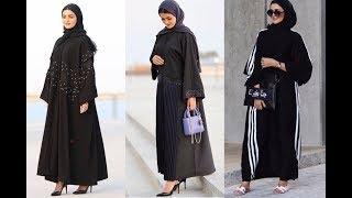 65e5162f34791 احدث عبايات خليجية سوداء فخمة للأنيقات Latest Black Abaya Designs