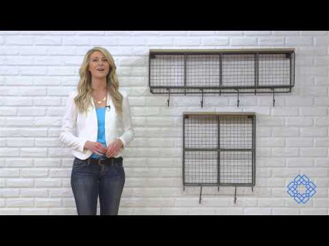 Video for Natural Wire Mesh Four Horizontal Cubbies w/ Raw Wooden Top