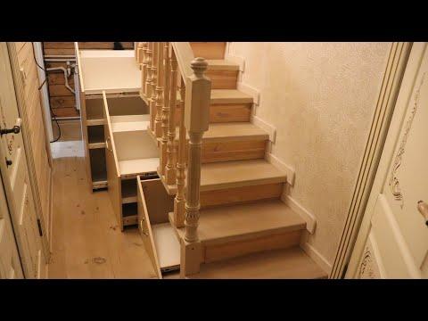 ШКАФ ПОД ЛЕСТНИЦЕЙ СВОИМИ РУКАМИ (ВЫДВИЖНЫЕ ЯЩИКИ) DIY Wardrobe under the stairs with your own hands