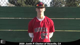 2020 Justin P  Claxton Shortstop Baseball Skills Video