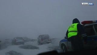 Снежная метель. Трасса Оренбург-Бузулук