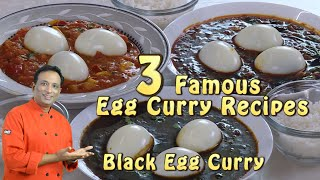3 Types of Egg Masala' Curries Anda Curry