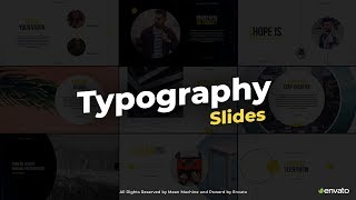 After Effects - Typography Slides Templates