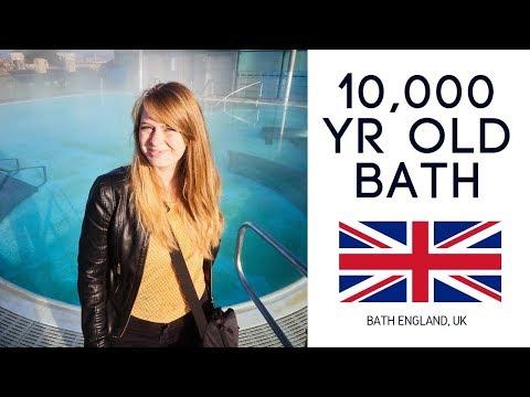 Bathing in 10,000 yr old water! (Roman baths Bath England)