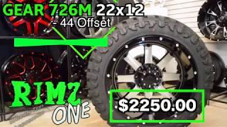 22x12 Gear Alloy 726M w/ 35x12.50R22 Atturo Trail Blade M/T