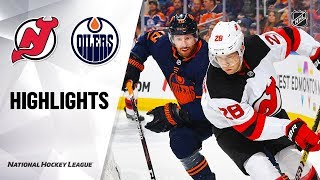 NHL Highlights | Devils @ Oilers 11/08/19
