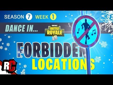 Fortnite All Forbidden Locations Week 1 Dance In Forbidden