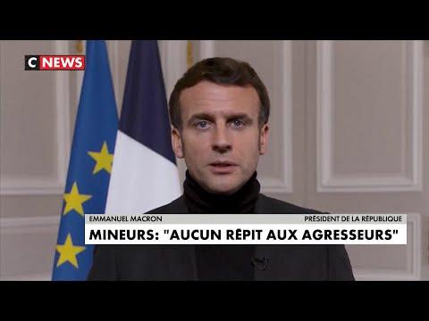 Emmanuel Macron s'adresse aux victimes de violences sexuelles sur mineur Emmanuel Macron s'adresse aux victimes de violences sexuelles sur mineur