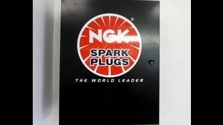 NGK Spark Plug Cabinet And Some Spark Plugs I Stock