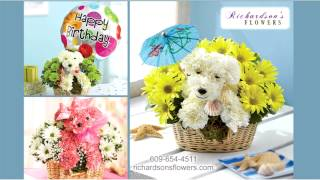 preview picture of video 'Richardsons Flowers Talking Puppies Medford NJ 609-654-4511 http://www.richardsonsflowers.com'