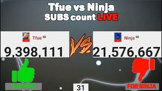 tfue vs ninja sub count live - TH-Clip