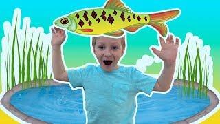 Дети ходили на рыбалку и поймали 27 карасей