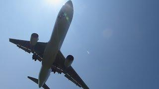 Landingoftheairplane鹿児島溝辺空港近くの穴場ランウェイ34