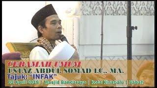 Tujuh Manfaat Infak: Ustaz Abdus Somad LC MA disambut Barzanji &  Solawat Thola