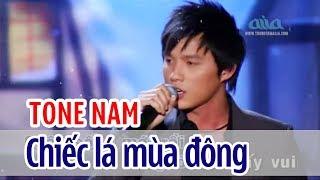 Chiếc Lá Mùa Đông - KARAOKE | Tone Nam | Beat Gốc